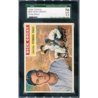 1956 Topps #24 Dick Groat GB SGC 70 *8026 (Reed Buy)