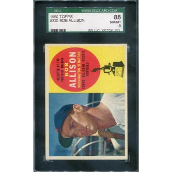 1960 Topps #320 Bob Allison SGC 88 *1021 (Reed Buy)