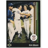 1989 Upper Deck Kirk Gibson Los Angeles Dodgers NL MVP #662 Black Border Proof