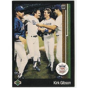 1989 Upper Deck Kirk Gibson Los Angeles Dodgers NL MVP #662 Black Border Proof
