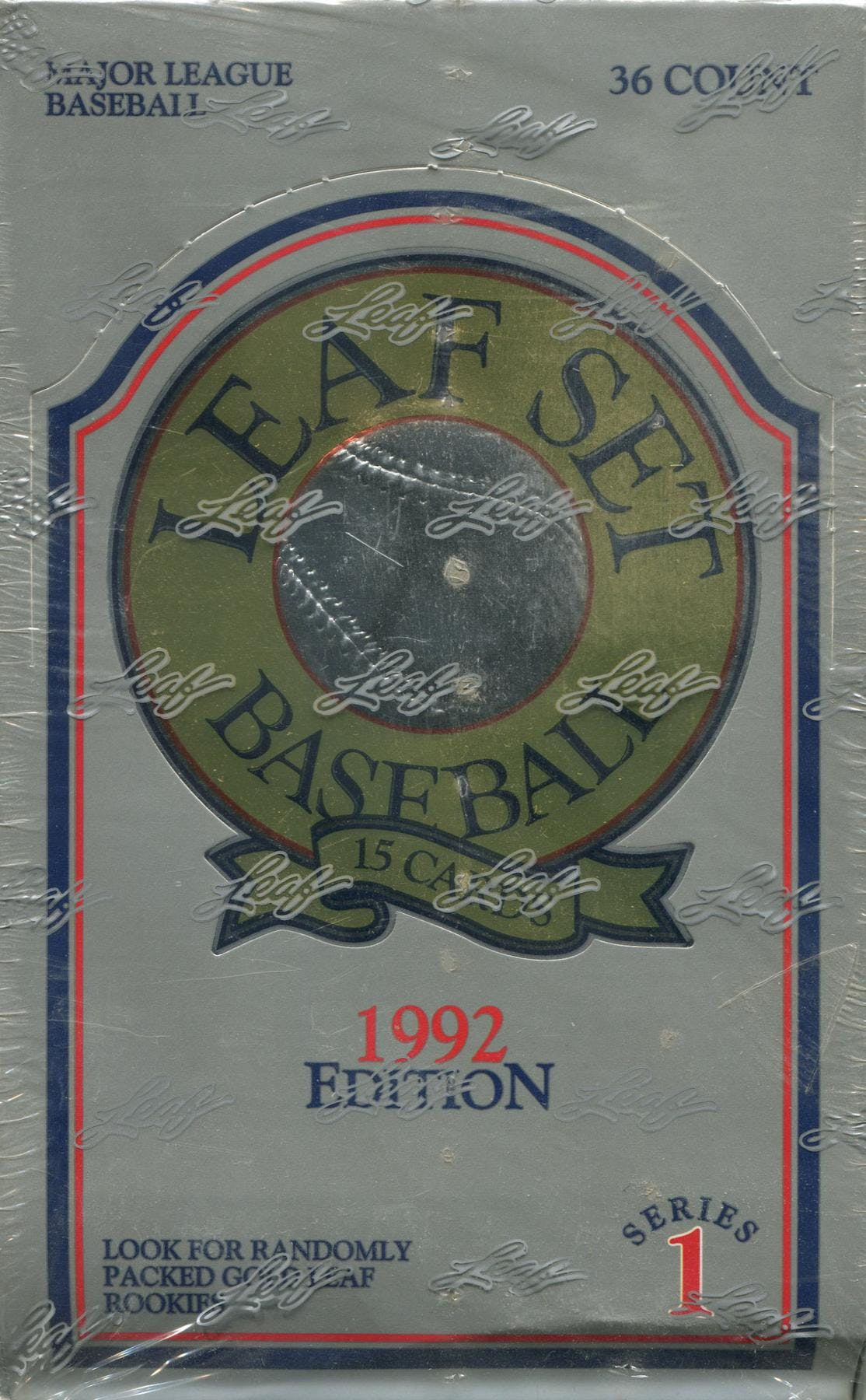 1992 Leaf Series 1 Baseball Wax Box