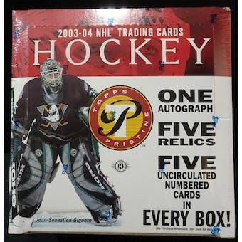 2003/04 Topps Pristine Hockey Hobby Box (Reed Buy)