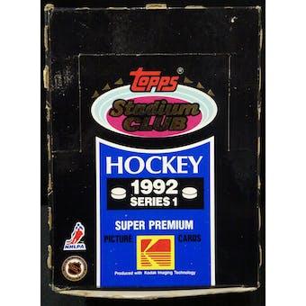 1992/93 Topps Stadium Club Series 1 Hockey Wax Box (Reed Buy)