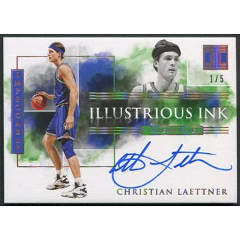 2019/20 Panini Impeccable #32 Christian Laettner Illustrious Ink Holo Gold Auto #1/5