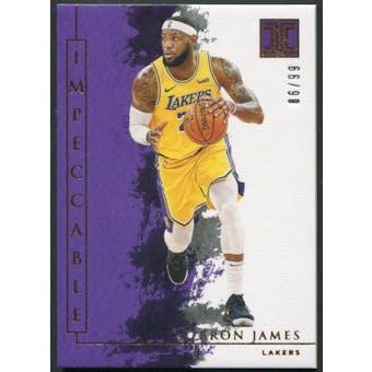 2019/20 Panini Impeccable #77 LeBron James #86/99