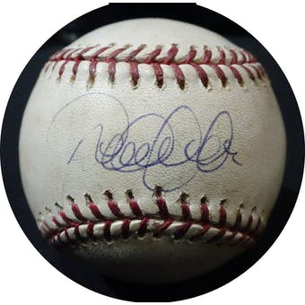 Derek Jeter Autographed Game Used MLB Baseball Steiner/MLB 156564 (Reed Buy)