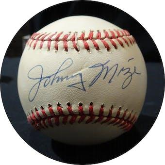 Johnny Mize Autographed AL Brown Baseball JSA KK52571 (Reed Buy)
