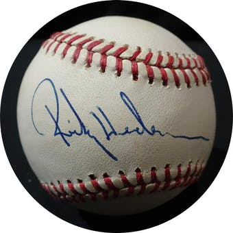 Rickey Henderson Autographed AL Brown Baseball JSA KK52727 (Reed Buy)