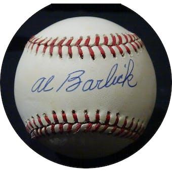 Al Barlick Autographed NL White Baseball JSA KK52644 (Reed Buy)