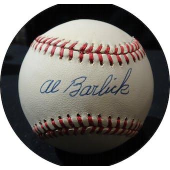 Al Barlick Autographed NL White Baseball JSA KK52645 (Reed Buy)