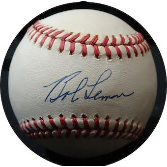 Bob Lemon Autographed NL White Baseball JSA KK52646 (Reed Buy)