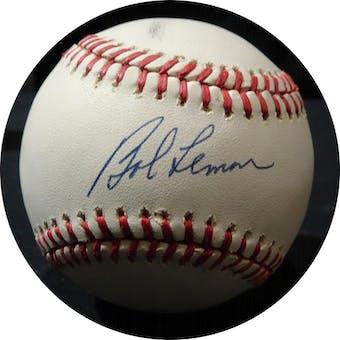 Bob Lemon Autographed NL White Baseball JSA KK52648 (Reed Buy)