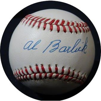 Al Barlick Autographed NL White Baseball JSA KK52655 (Reed Buy)