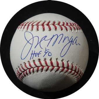 Joe Morgan Autographed MLB Baseball (HOF 90) Leaf (Reed Buy)
