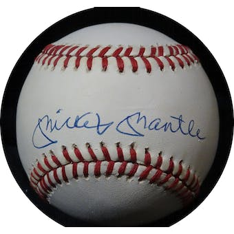 Mickey Mantle Autographed AL Brown Baseball JSA BB42495 (Reed Buy)