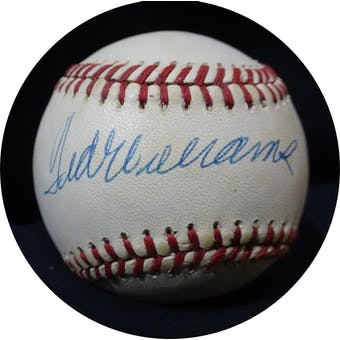 Ted Williams Autographed AL Brown Baseball JSA BB42497 (Reed Buy)