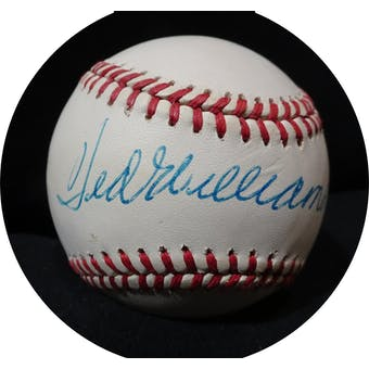 Ted Williams Autographed AL Brown Baseball JSA BB42498 (Reed Buy)