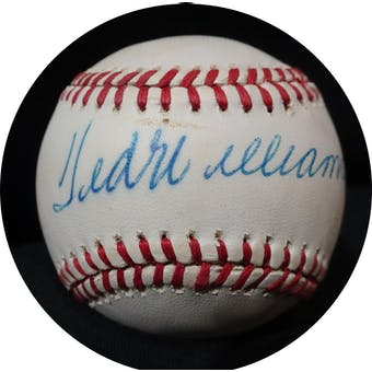 Ted Williams Autographed AL Brown Baseball JSA BB42500 (Reed Buy)