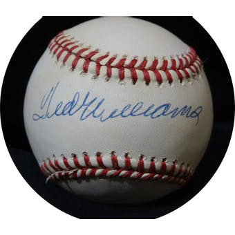 Ted Williams Autographed AL Brown Baseball JSA BB42502 (Reed Buy)