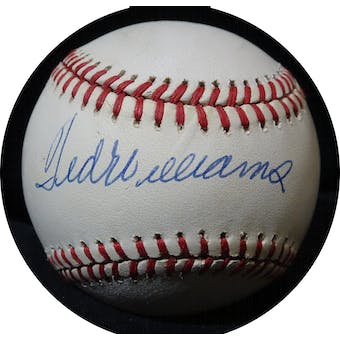 Ted Williams Autographed AL Brown Baseball JSA BB42503 (Reed Buy)
