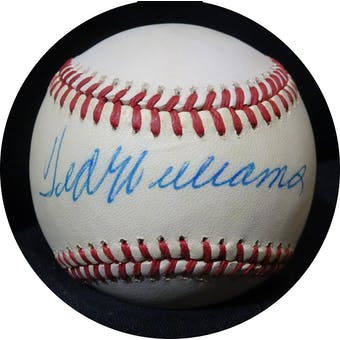 Ted Williams Autographed AL Brown Baseball JSA BB42504 (Reed Buy)