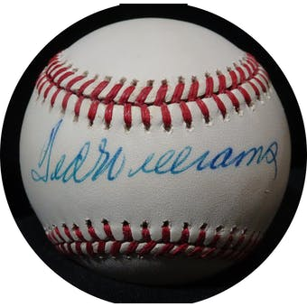 Ted Williams Autographed AL Brown Baseball JSA BB42505 (Reed Buy)