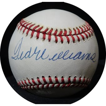Ted Williams Autographed AL Brown Baseball JSA BB42506 (Reed Buy)