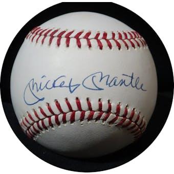 Mickey Mantle Autographed AL Brown Baseball JSA BB42508 (Reed Buy)