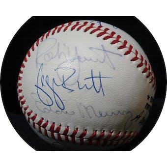 3,000 Hit Club Autographed NL Giamatti Baseball (12 sigs) JSA BB63968 (Reed Buy)