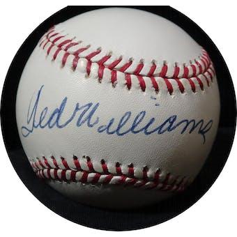 Ted Williams Autographed AL Brown Baseball JSA Y36178 (Reed Buy)