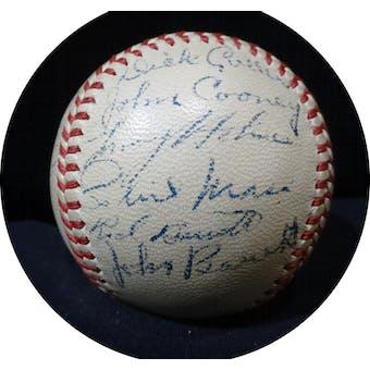1947 Boston Braves Spring Training Autographed NL Frick Baseball (20 sigs) JSA X91484 (Reed Buy)