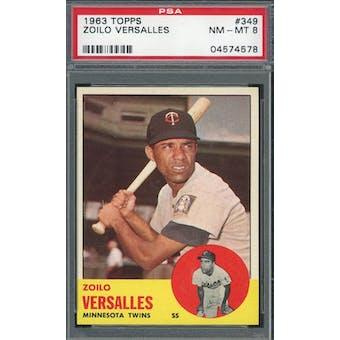 1963 Topps #349 Zoilo Versalles PSA 8 *4578 (Reed Buy)