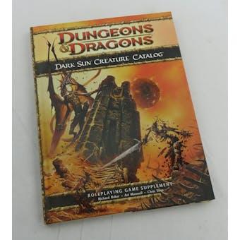 Dungeons & Dragons Dark Sun Creature Catalog (WOTC 2010)