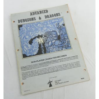 Advanced Dungeons & Dragons Non-Player Character Records (TSR, 1979)