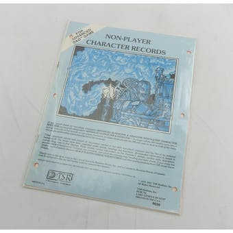 Advanced D&D Non-Player Character Records (TSR, 1981) - PARTIALLY SEALED