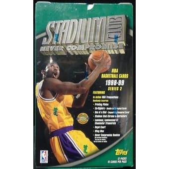 1998/99 Topps Stadium Club Series 2 Basketball Jumbo Box (Reed Buy)