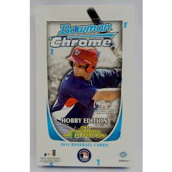 2011 Bowman Chrome Baseball Hobby Box (Reed Buy)