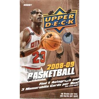 2008/09 Upper Deck Basketball Hobby Box
