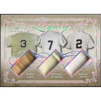2019 Leaf ITG Used Legacy Babe Ruth/Mickey Mantle/Derek Jeter #/2 (Reed Buy)