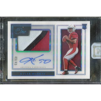 2019 Panini One Blue #116 Kyler Murray Autograph #/49 (Reed Buy)