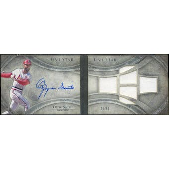 2014 Topps Five Star Quad Relic Autographs Books #FSSBOZ Ozzie Smith #/50 (Reed Buy)