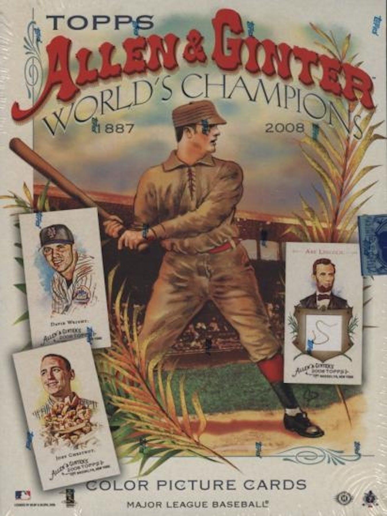 2008 Topps Allen Ginter Baseball Hobby Box