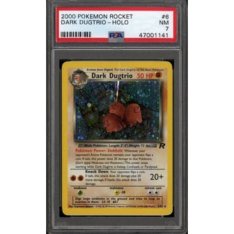 Pokemon Team Rocket Dark Dugtrio 6/82 PSA 7