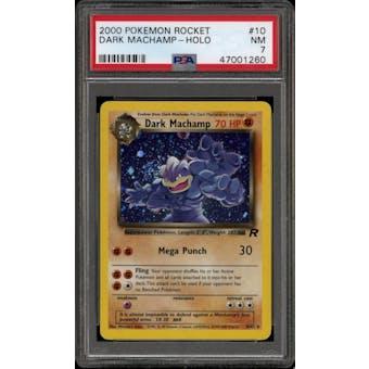 Pokemon Team Rocket Dark Machamp 10/82 PSA 7