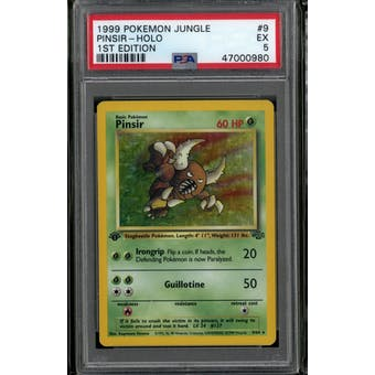 Pokemon Jungle 1st Edition Pinsir 9/64 PSA 5