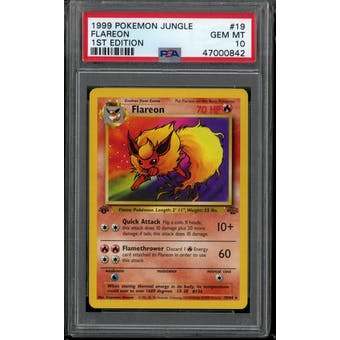 Pokemon Jungle 1st Edition Flareon 19/64 PSA 10 GEM MINT