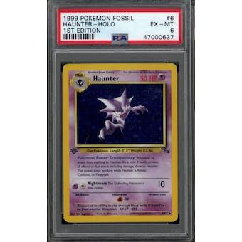 Pokemon Fossil 1st Edition Haunter 6/62 PSA 6