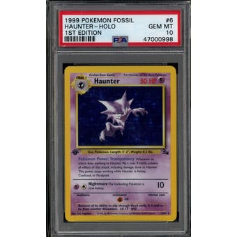 Pokemon Fossil 1st Edition Haunter 6/62 PSA 10 GEM MINT