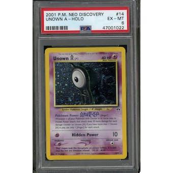 Pokemon Neo Discovery Unown A 14/75 PSA 6