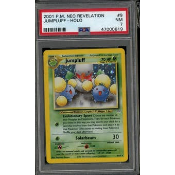 Pokemon Neo Revelation Jumpluff 9/64 PSA 7